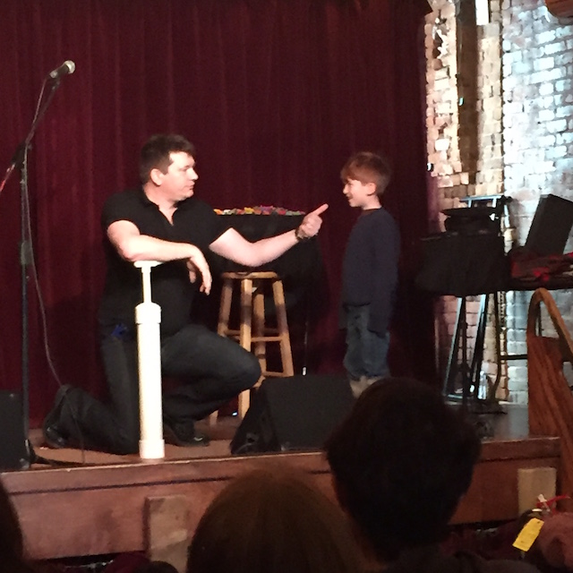 It's still okay to laugh these days, at least at the Little Laff Variety Show. Photo: Meredith Craig de Pietro