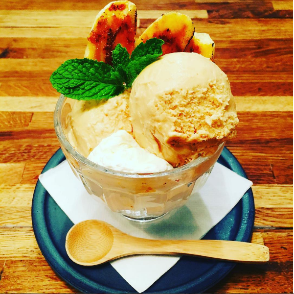 And, a sundae made with Morgenstern's ice cream for dessert. Photo: @takumenlic via instagram