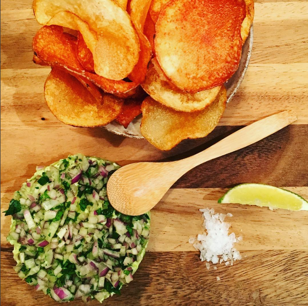 The secret guacamole comes with house-made potato chips. Photo: @Takumenlic via Instagram.