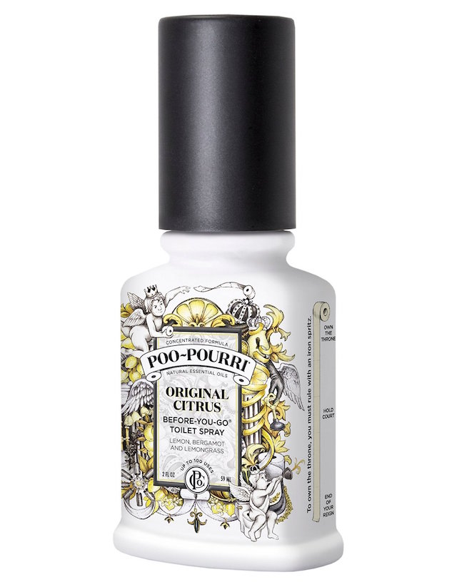 This spray is actually not your average air freshener. Photo: Poo Pourri