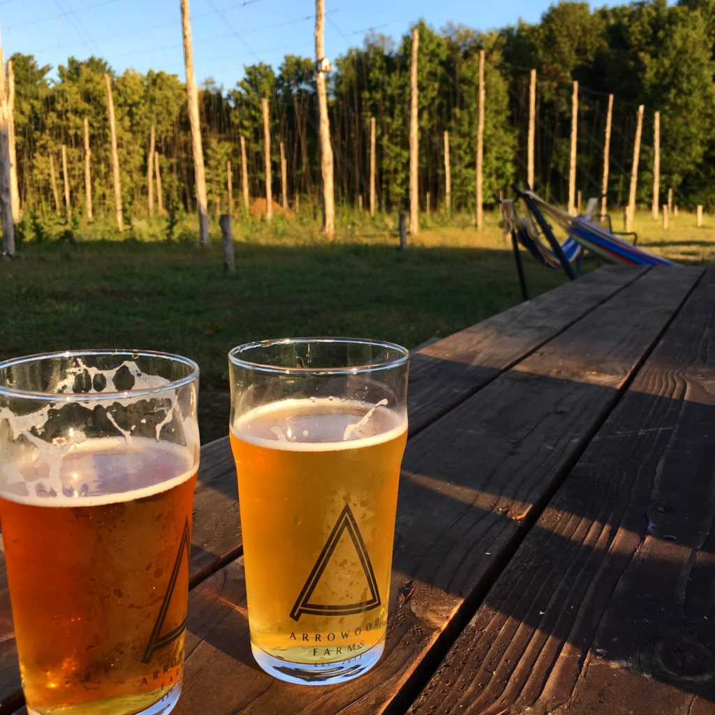 Arrowood Farms is a farm to beer experience.