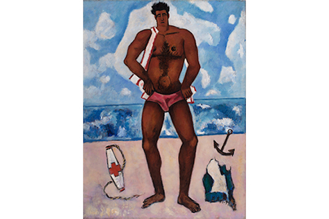 Canuck Yankee Lumberjack at Old Orchard Beach, Maine, by Marsden Hartley