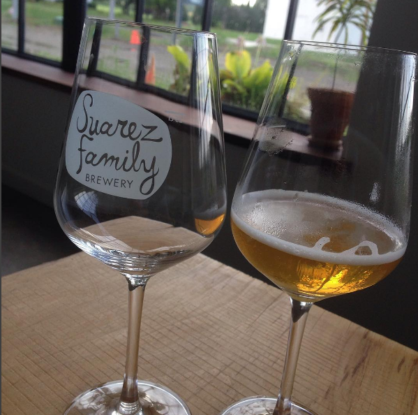 Glasses at the Suarez Family Brewery. Photo; Suarez Family Brewery via Instagram