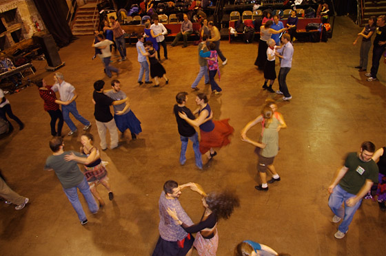 Twirling on the dance floor