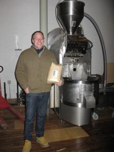 Jim Munson with the Loring roaster