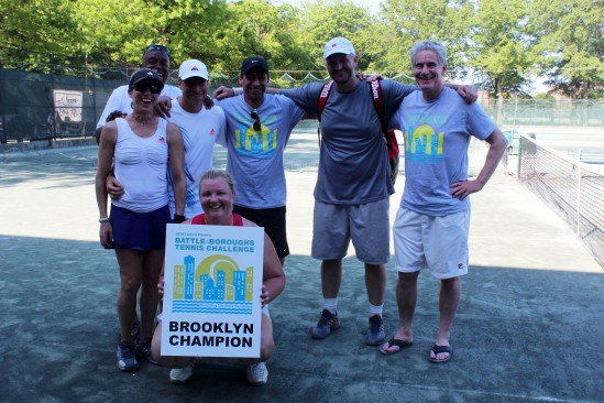 A band of tennis ballers from Prospect Park will represent Brooklyn in the first-annual Battle of the Boroughs, citywide tennis championship, next Saturday. Photo: Myra Chung
