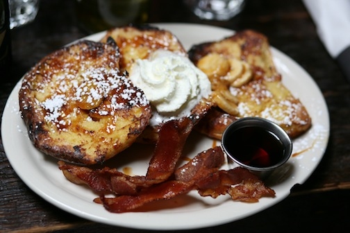 For $10, the Rum French Toast at Black Swan is a decadent deal. Photo: Daniel Broadhurst