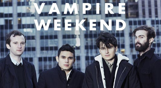 New York's own Vampire Weekend takes to the Barclays stage this Friday.