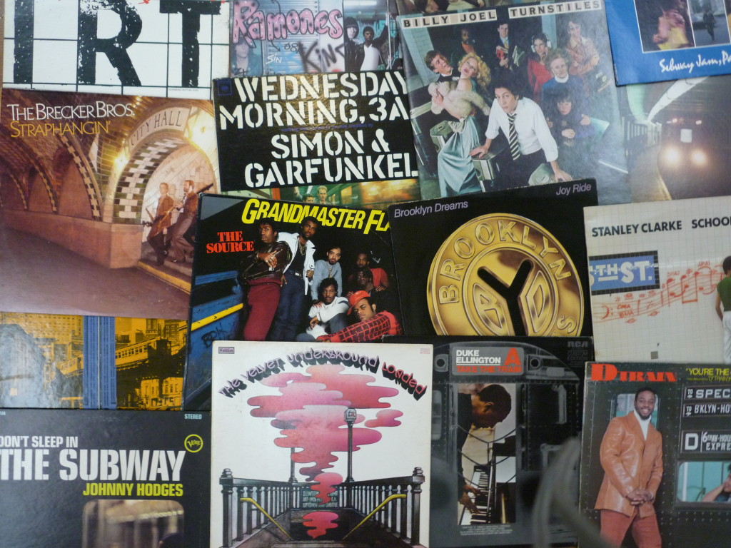 """The New York Transit Museum is throwing a karaoke party on Oct. 16 to celebrate its new exhibition, """"Album Tracks: Subway Record Covers."""" Photo: NYTM"""