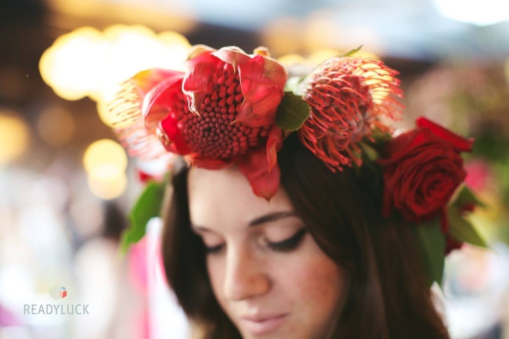 The Frida Kahlo-inspired flower crowns from Rose Red and Lavender. Credit: Readyluck