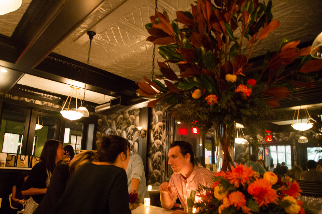 Joie Meffert Florals designed the centerpiece for the bar. Credit: Jeannette B. Moses