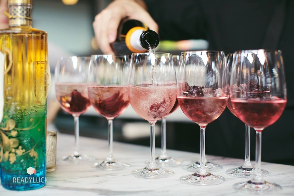 Pavan provided the cocktails, with candied hibiscus. A treat for all the senses. Credit: Readyluck
