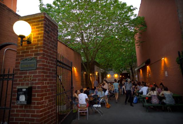 Franklin Park's patio area is always hopping. Photo: Dan Sagarin/Franklin Park