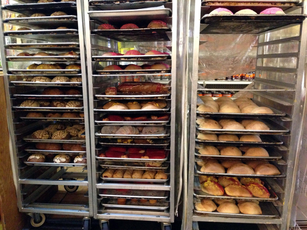 La Nueva Union Bakery on Cortelyou on a recent Monday morning, when Mexican pastries were still cooling off on trays.
