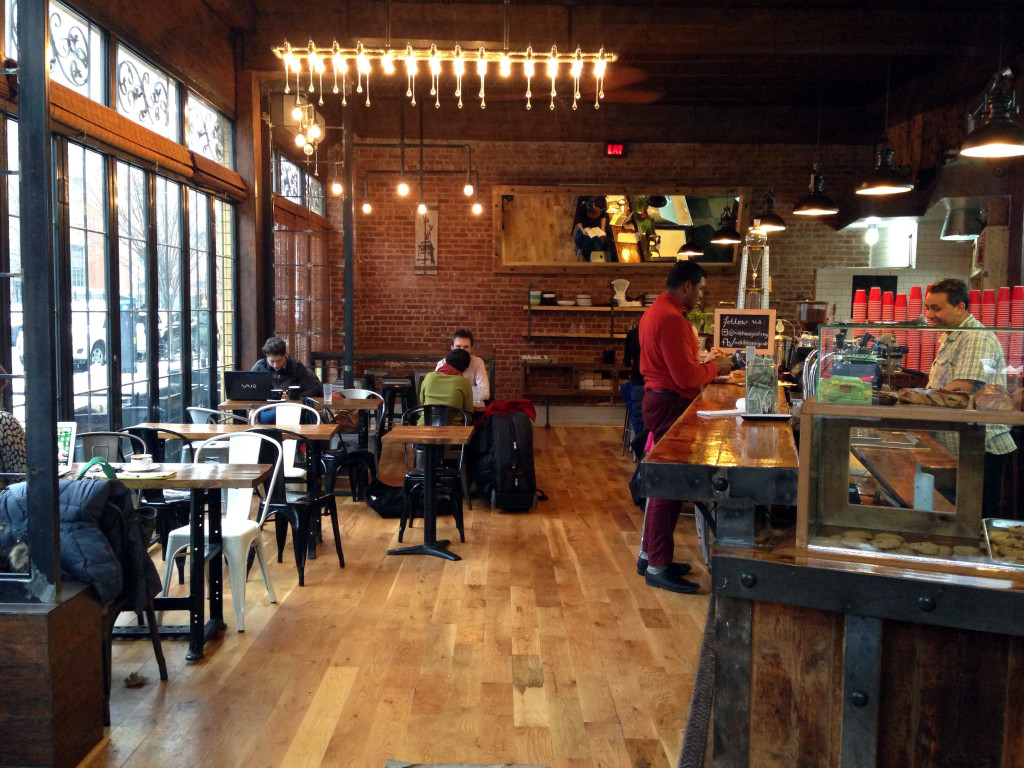 Milk & Honey is the go-to spot for coffee, and Egyptian poached eggs, in Ditmas Park. Photo: Peggy Truong
