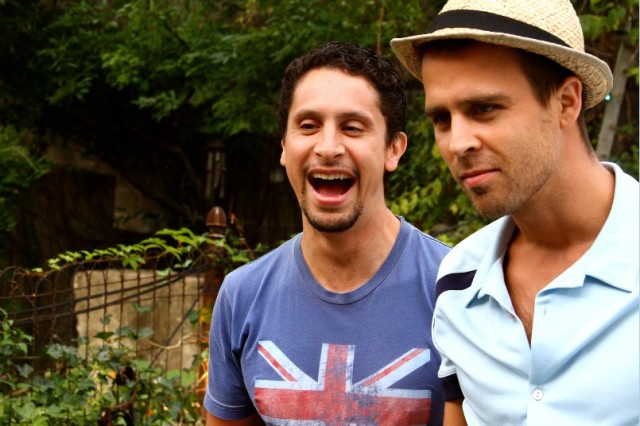 """A scene from """"Turtle Hill, Brooklyn,"""" which real-life couple Ricardo Valdez and Brian Seibert co-wrote and co-star. Photo: courtesy Brian Seibert"""