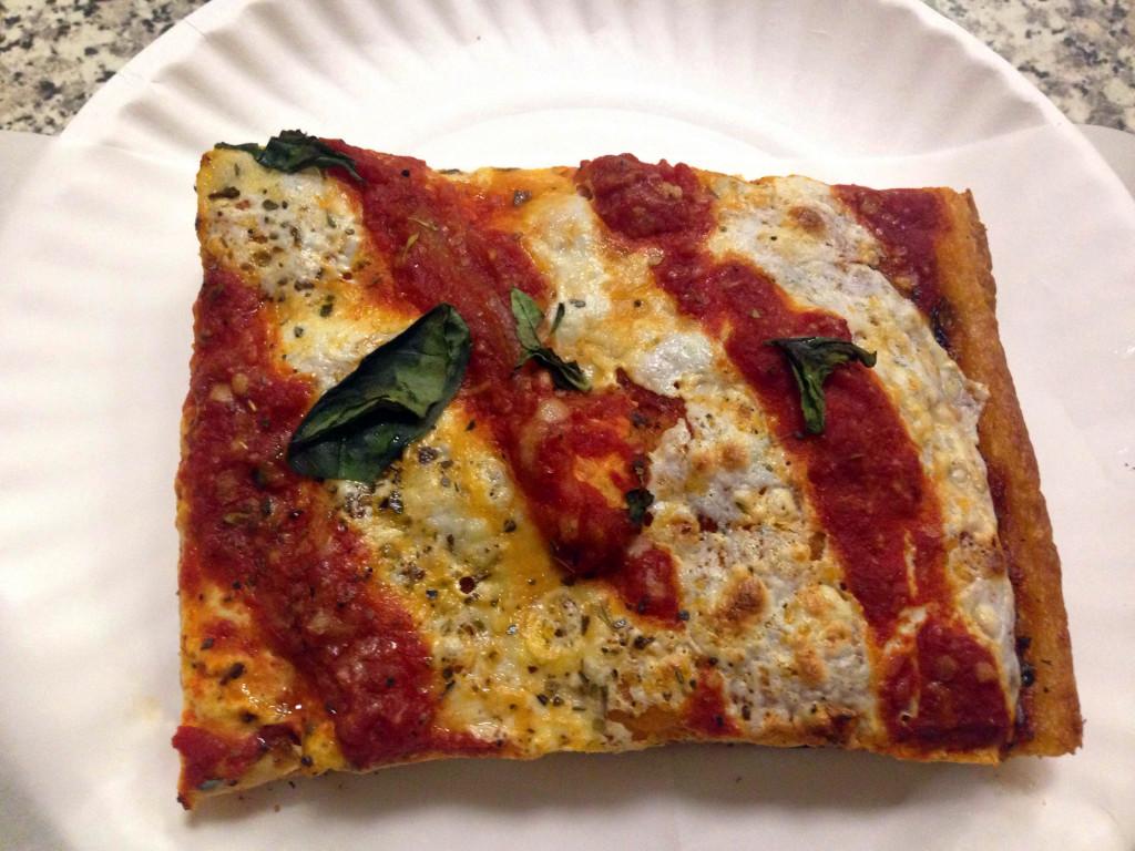 Presenting, the grandma slice at San Remo Pizzeria on Cortelyou.
