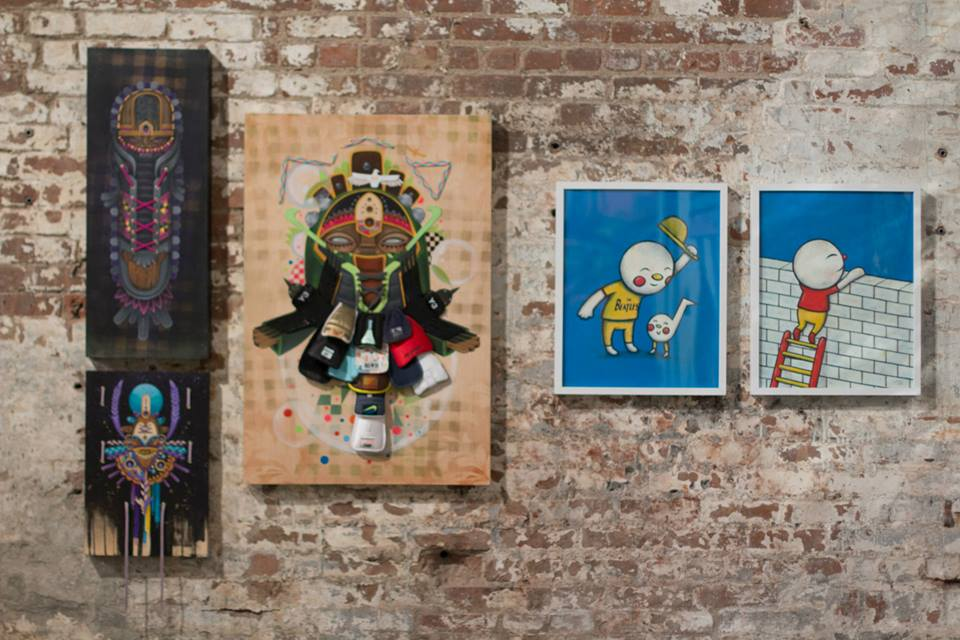 These works were included in a recent exhibit at ExitRoomNY. Photo: ExitRoomNY
