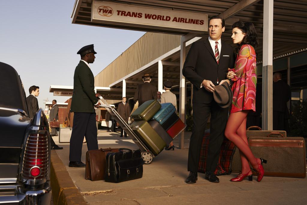 Departing soon: The entire Mad Men crew. Photo: Frank Ockenfels 3/AMC