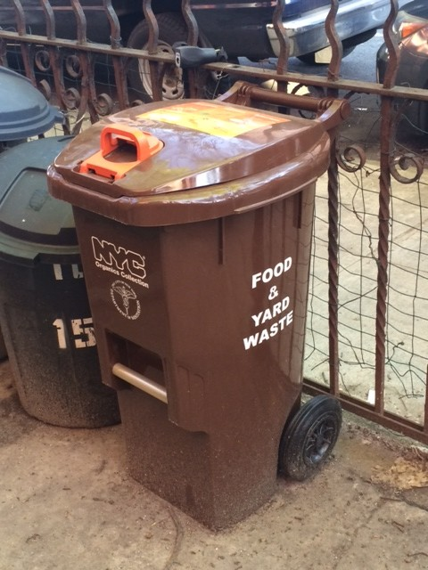 The brown bins have arrived to take the guesswork out of composting. Photo: Kate Hooker