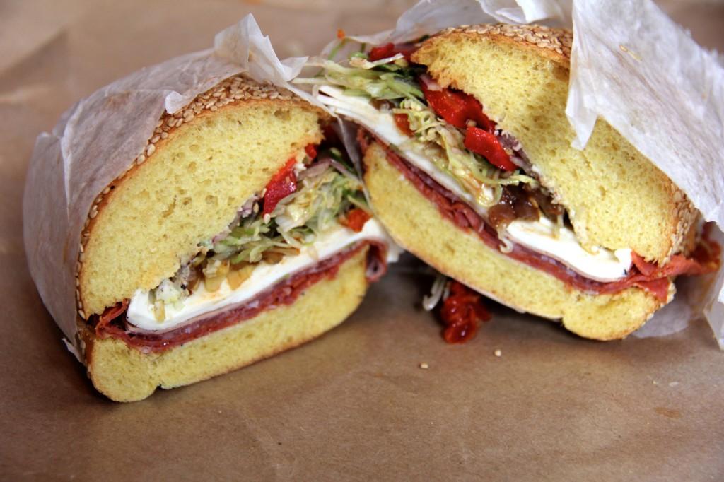 Meat Hook Sandwich Shop's Italian sandwich. Photo: Brendan Spiegel