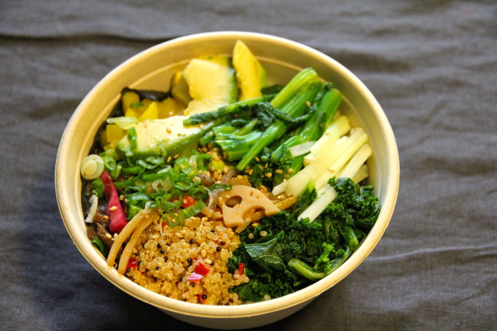"The ""farmer's bowl"" chirashi at Silver Rice. Photo: Brendan Spiegel"