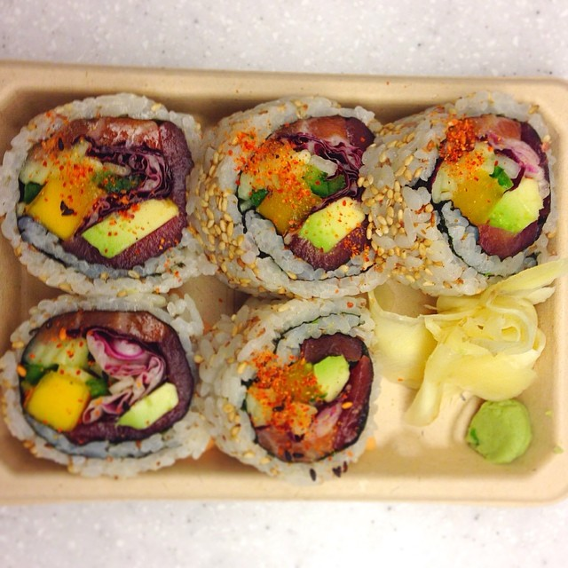 An inventive, and oversized, tuna roll at Silver Rice. (Photo: Silver Rice)