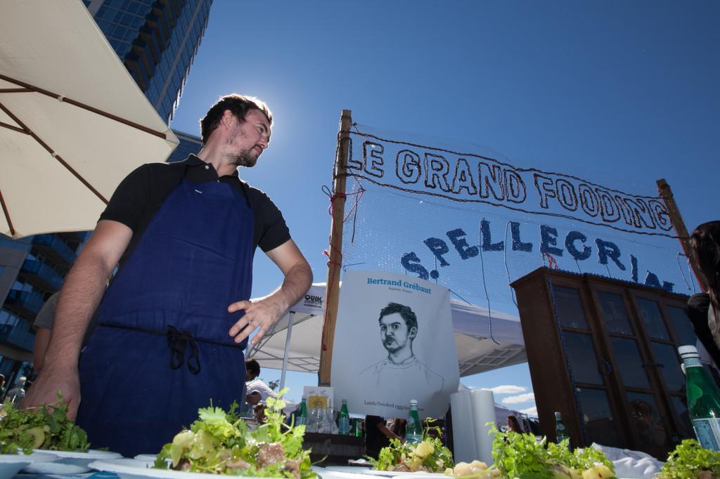 Parisian chef Bertrand Grebaut working a Le Fooding event. Photo: Francesca Signori
