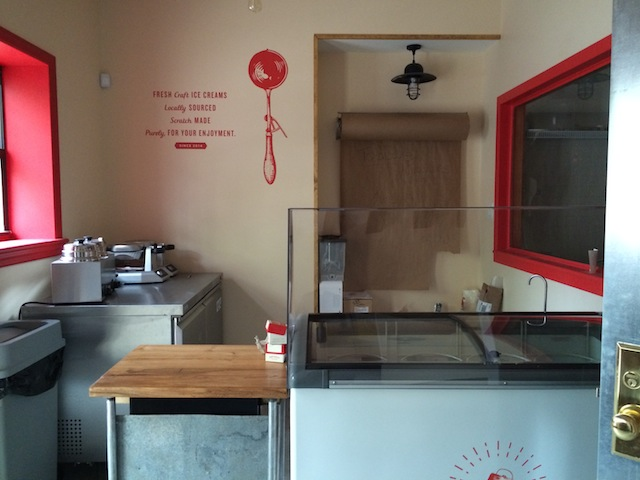 You can peer into the creamery from the Sackett Street scoop shop. Photo: Hay Rosie