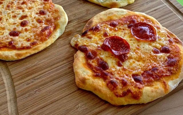 Two ingredient pizza requires just flour and yogurt for its crust. Photo: Shana Liebman