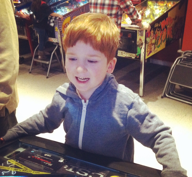 There's even step stools for the youngest pinball players.