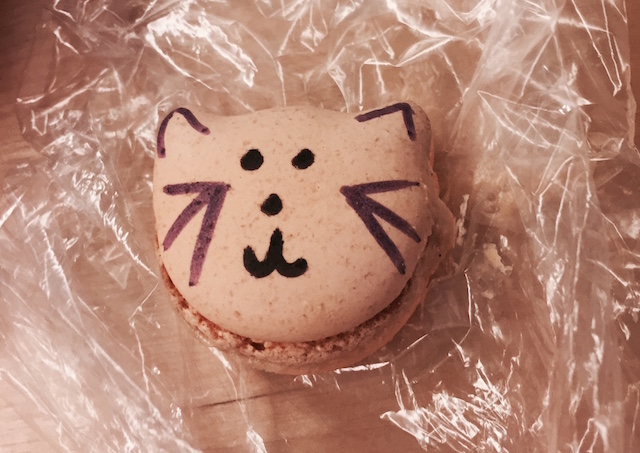 Yes, the inventive macarons for sale at the Meow Parlour Patisserie are in the shape of a cat. Photo: Meredith Craig de Pietro