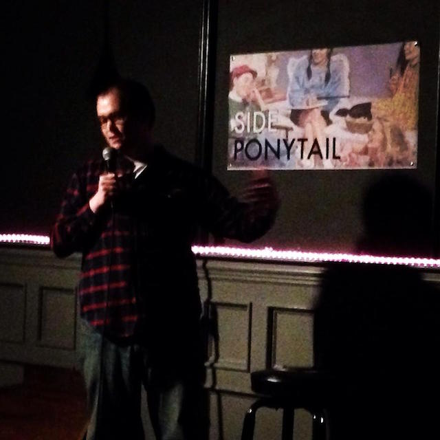 Side Ponytail, a free monthly comedy show presented by Carolyn Busa, is back at Over the Eight on Monday night. Photo: Carolyn Busa