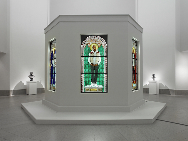 The Kehinde Wiley Installation questions narratives, heroes and icons. Photo: Jonathan Dorado (Courtesy of Brooklyn Museum.)
