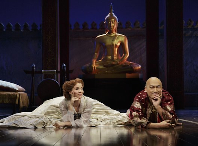 Bartlett Sher's staging of The King and I, starring Kelli O'Hara and Ken Wantanabe, is up for nine Tony Awards, including Best Musical Revival. Photo: Lincoln Center Theater