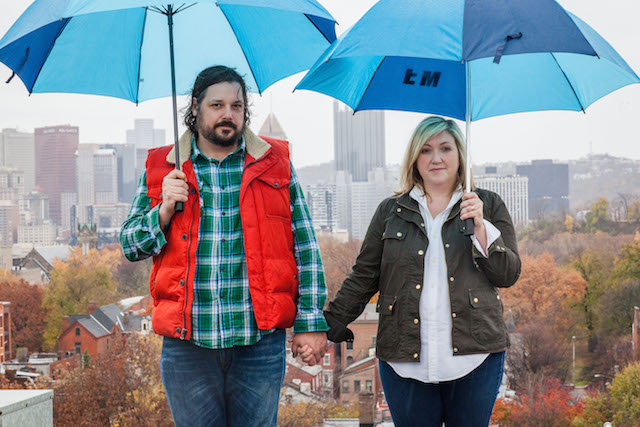 This couple used to live in Brooklyn, but now calls Pittsburgh home. Photo: Libby Hilf Photography