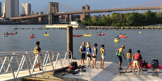 Help support free kayaking at Brooklyn Bridge Park at the Boathouse's annual fundraiser on Thursday night.  Photo: Brooklyn Bridge Park Boathouse