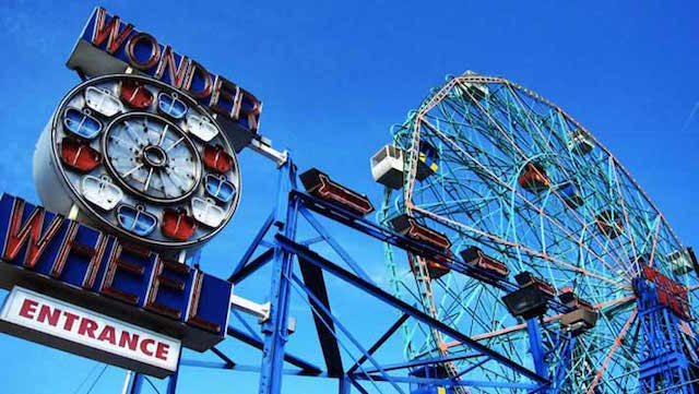 Poetry and ferris wheel rides go hand in hand at Poet-a-Rama, a fundraiser for Parachute Arts Photo: Deno's Wonder Wheel
