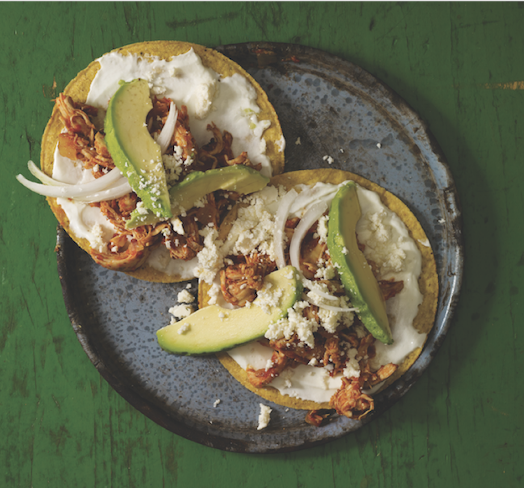 Chicken tinga is a typical stewed dish common in Mexico City, Puebla and Sunset Park. Image courtesy 'Eat Mexico: Recipes from Mexico City's Streets, Markets and Fondas.'
