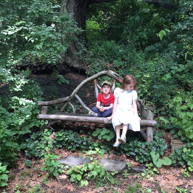 The trails at Wave Hill are full of secret gardens and hiding nooks for kids to play. Photo: Meredith Craig de Pietro