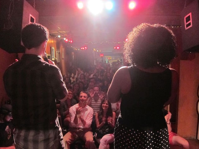Comedians Brian Parise and Janelle James host a new show called It's All Happening at Frank's Cocktail Lounge on Thursday night. Photo: It's All Happening