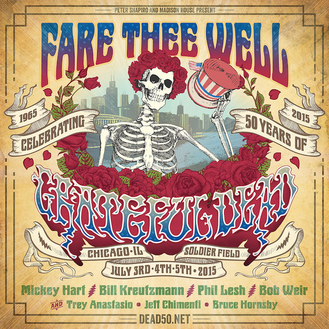 If you aren't going to at Soldier Field for the Grateful Dead's last three shows, Brooklyn Bowl's simulcast is the next best thing. Photo: Dead50.net