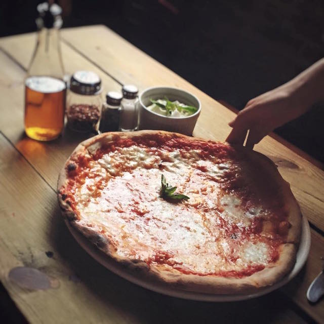 Enjoy the excellent pizza from Houdini Kitchen Lab at it Vintage Movie & Pizza NIght on Monday. Photo: Houdini Kitchen  Laboratory