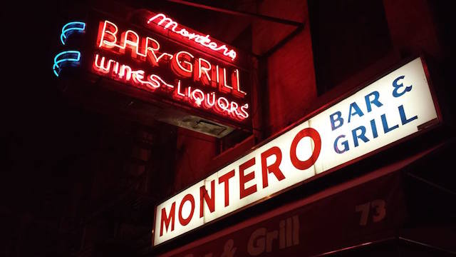 Get in some quality time at a quality Brooklyn bar while you can this weekend. Photo: Montero's Bar