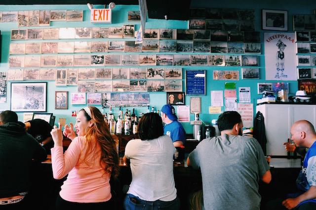 Inside Ruby's, a beachfront bar that's been serving frosty beers since 1972. Photo: © 2015 Regina Mogilevskaya