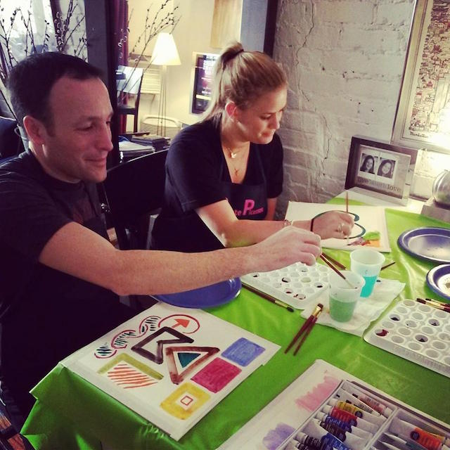 Unleash your inner Matisse at Tuesday's Watercolor & Wine Adult Paint Night at Berg'n. Photo: Private Picassos