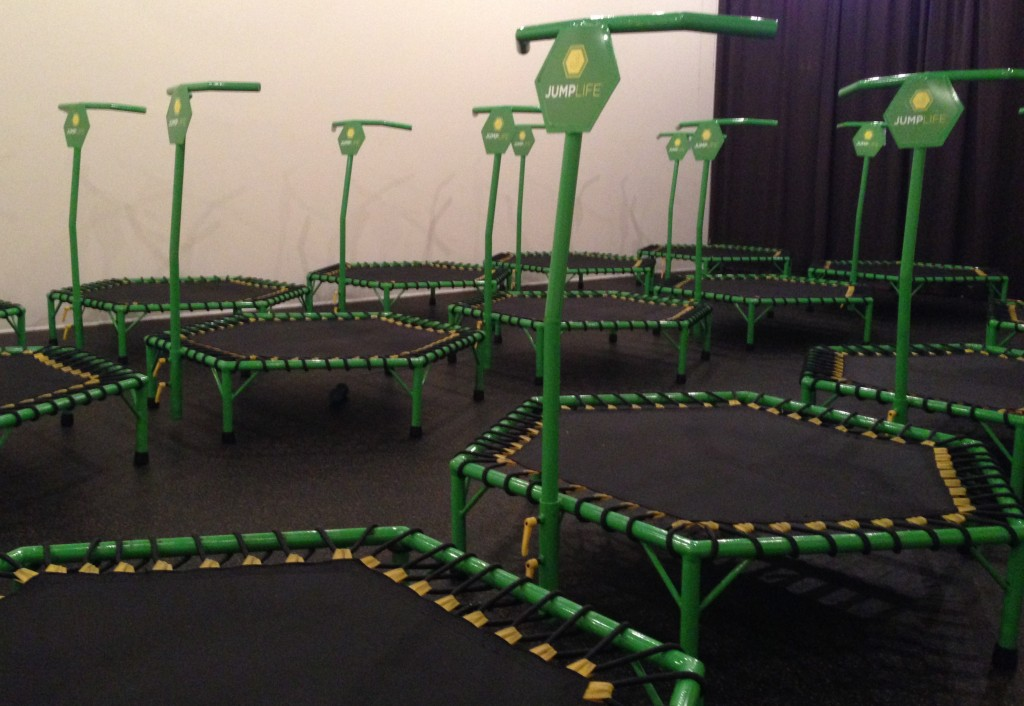 These is not your mom's trampoline workout. Photo: Kristen Chuber