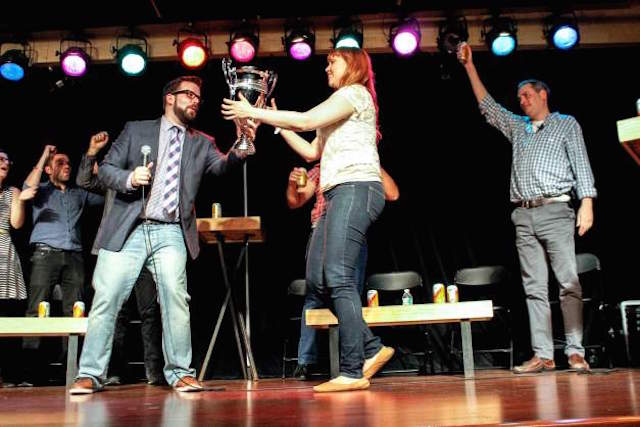 Improv competition, beer, and a trophy at stake make for a fun Tuesday night
