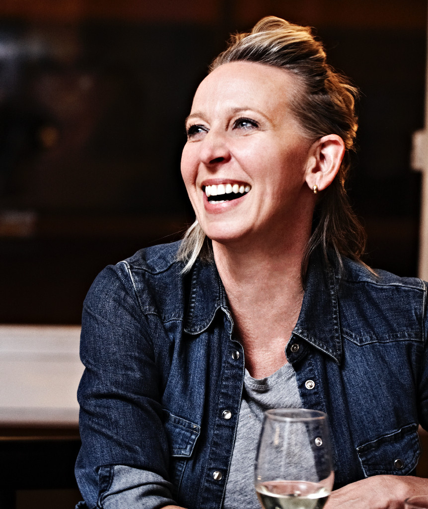Gabrielle Hamilton, chef, author and owner of Prune speaks with Kevin Young, a poet who often writes about food on Nov. THTHE Photo: Gabrielle Hamilton
