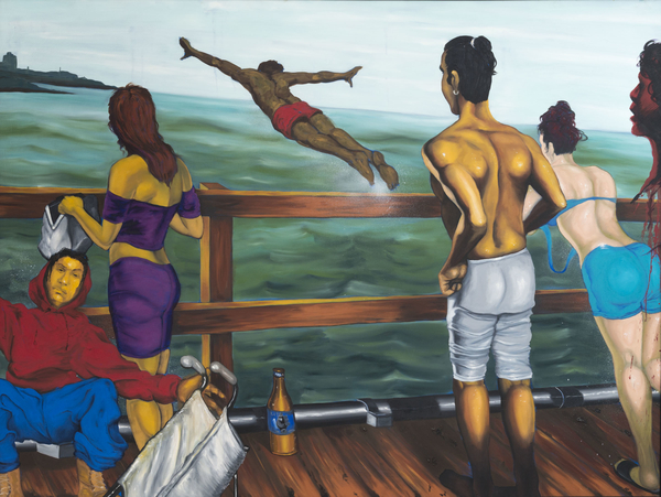 Daze (American, born 1962). Coney Island Pier, 1995. Oil on canvas, 60 x 80 in. (152.4 x 203.2 cm). Collection of the artist